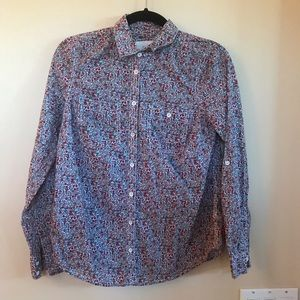 Sonoma Floral Red Button Down Top. Size: XS
